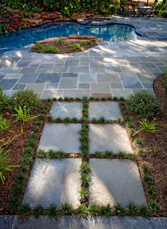 Another $1 stepper idea!  Love this backyard! Photo by Michael Craft Photography - Houston & Surrounding Areas.