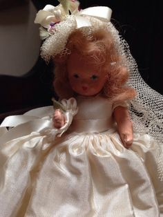 Vintage Storybook Hollywood Doll Bride Frozen Legs by WolfRoadFarm