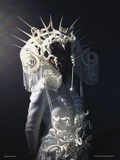 The Quixotic Divinity Headdress, by artist Joshua Harker. #ModernArt #HeadDress