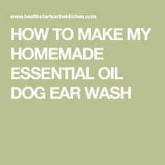 Can I Wash My Dog With Tea Tree Oil