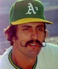 Oakland Athletics pitcher Rollie Fingers legendary mustache in baseball!