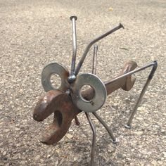 Wrench Grasshopper Recycled Garden Yard Art - The Best Welding Projects Examples, Tips & Tricks Welding Art Projects, Metal Art Projects, Metal Crafts, Diy Projects, Garden Projects, Metal Sculpture Artists, Steel Sculpture, Sculpture Ideas, Art Sculptures