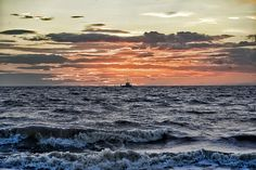 Sunset over The Wash from Hunstanton beach