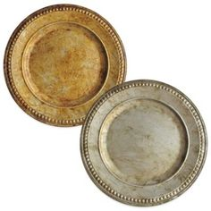Charge It by Jay 14-Inch Beaded Charger Plates (Set of 4) - BedBathandBeyond.com