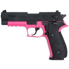 SIG Sauer Mosquito Semi Automatic Pistol .22LR 3.9 Barrel 10 Round Capacity Polymer Grips Pink Frame Blued Finish MOS-22-PiNK