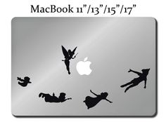Peter Pan disney decal laptop macbook mac pro air sticker apple tinkerbell m118