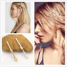 Aliexpress.com: Comprar Nueva moda hairwear chapado en oro flecha horquilla del pelo para mujeres chica H365 de cita a don fiable proveedores en just do my best