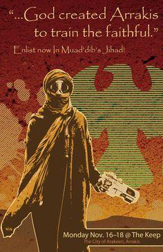 Dune, Muad'dib Jihad Poster -- Go to Arrakis, they said. It'll be fun.