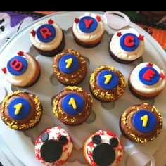 Cupcakes I made for a little boys first birthday:)