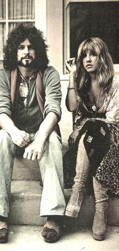 Stevie Nicks and Lindsey Buckingham by lorena