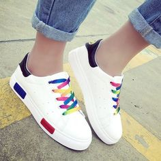 20.85$  Watch here - http://di3zj.justgood.pw/go.php?t=186876408 - Trendy Colour Splicing and Tie Up Design Women's Athletic Shoes 20.85$