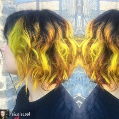 www.foxdensalon.com - This is amazing! Hair by @sicaiscool #foxdenlovesme #foxdenlovescolor #regrann #foxdensalon #yellowhair #uptownsalon #612haircrew #mpls #mplshair #beinspiredpr