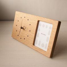 木の時計&フォトフレーム   ナラ