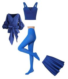 """""""Blue"""" by cozywow-socks ❤ liked on Polyvore featuring Miss Selfridge, Chicwish and Boohoo"""