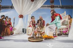 Wedding Planners - Eventrics l Wedding Event Design Occasions by Shangri-La l Venue - Epping Forest Yacht Club l Images by - Z Molu Photography l Indian Wedding Ceremony