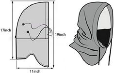 Mens Face Mask, Full Face Mask, Diy Fashion, Ideias Fashion, Sewing Aprons, Hooded Scarf, Black Leather Gloves, Balaclava, Cool Hoodies