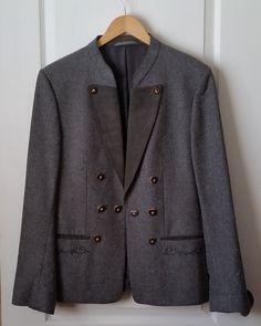 03c181984211 AUSTRIAN LODEN Wool Sportcoat Men's LARGE Vintage Grey Echter-Tiroler-Loden  Weyrer Innsbruk Tirol Jacket Tyrolean Tailored Coat