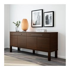 BJURSTA Sideboard IKEA The doors have no knobs or handles, but open by applying light pressure.