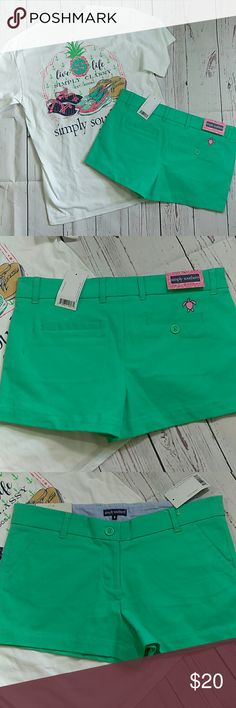 "NWT Simply Southern Shorts These classic shorts have the perfect not-too-short, not-too-long length and come in a rainbow of hues.  All sizes 4"" inseam CottonZip fly Machine wash Simply Southern Shorts"