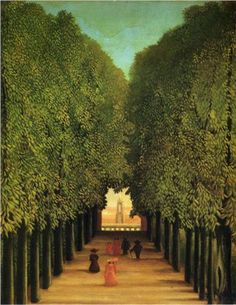 Henri Rousseau Alleyway in the Park of Saint Cloud - Handmade Landscape Oil Painting Reproduction on Canvas Norman Rockwell, A4 Poster, Poster Prints, Henri Rousseau Paintings, Städel Museum, Parks, Saint Cloud, Inspiration Artistique, Art Ancien