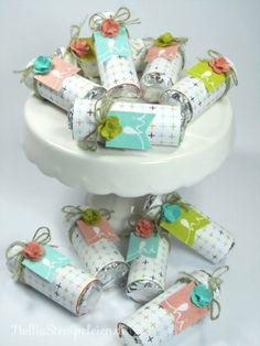 Mentos-Goodies mit dem Designpapier Süße Sorbets und dem Stempel Im Fähnchenfieber aus der Sale-a-bration 2014 von Stampin' UP!