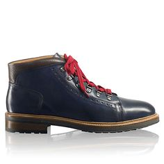 MONT-BLANC Russel Bromley Take on any adventure this season in Mont Blanc; through snowy side streets in the urban jungle, these boots won t let you down. Designed in northern Portugal from hardy navy calf leather,