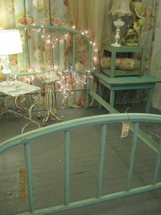 I Own One Of These Beauties With The Original Turquoise Paint, $10 At An  Estate. Antique Iron BedsIron Bed FramesBed ...