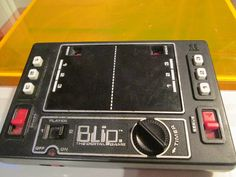 BLIP DIGITAL GAME 1970s Vintage 1977 Tomy Tennis Hand Held Cordless Battery Video Pong Buttons Timer Serve 1 2 Players by FriendsRetro on Etsy