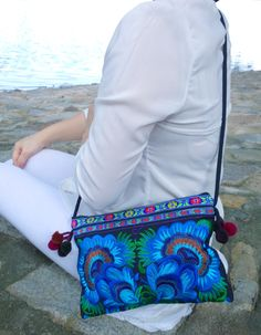 A personal favorite from my Etsy shop https://www.etsy.com/sg-en/listing/209963733/blue-hmong-embroidery-crossbody-bag