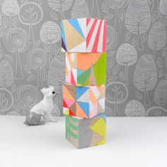 Etsy Finds: Geometric Neon Art Blocks | Handmade Charlotte