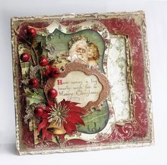 It's a Shabby Chic Bo Bunny Victorian Christmas Card - call me sentimental, but I do love this look so much.