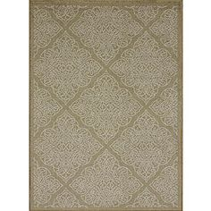 """Roma Beige Rug (7'5"""" x 10'5"""") $191Primary materials: 100-percent Polypropylene # Pile height: 0.20 inches"""