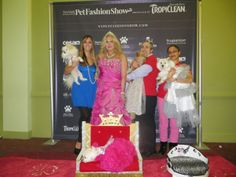 ZZ sits on her thrown in custom Orostani Couture gown at the 10th Annual New York Pet Fashion Show.