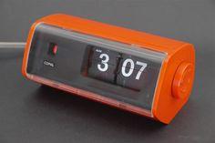 Vintage 1970s Orange Copal Flip Clock | eBay