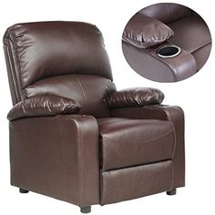 FoxHunter Bonded Leather Massage Cinema Recliner Sofa Chair ...