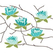 http://www.avalisa.com/  Flowering tree stretched wall art from $59