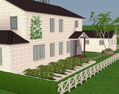 space cadet glow — New England Farmhouse Residential, Sims 2 House, Sims Freeplay Houses, New England Farmhouse, Casas The Sims 4, Sims Building, Glow, Mansions, House Styles, Sims 1