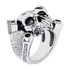 H-D Ring stainlessharley-davidson Harley Davidson Rings, Harley Davidson Motorcycles, Harley Davidson Merchandise, Silver Jewelry, Silver Rings, Gothic Rings, Metal Casting, Jewelry Collection, Rings For Men