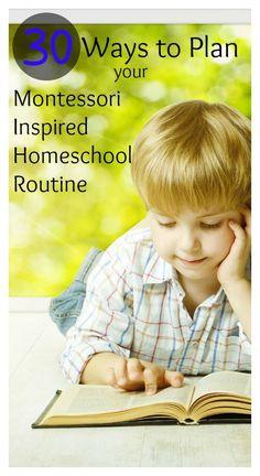 30 Ways to Plan Your Montessori Inspired Homeschool Routine Montessori Homeschool, Montessori Classroom, Montessori Toddler, Montessori Activities, Homeschooling, Montessori Bedroom, Baby Activities, Kindergarten, Tot School