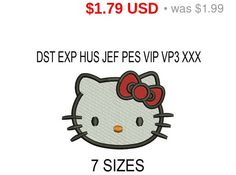 TODAY SALE 10% Hello Kitty embroidery design / от SportLogos