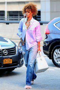 Rihanna street style candids fenty fashion 2015