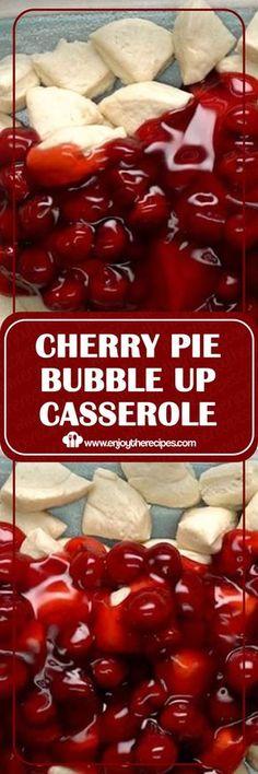 Cherry pie bubble up casserole enjoy the recipes recipes dessert easyrecipe casserole cherry farmers market quiche Cherry Desserts, Cherry Recipes, Köstliche Desserts, Pie Recipes, Sweet Recipes, Dessert Recipes, Cooking Recipes, Casserole Recipes, Recipies