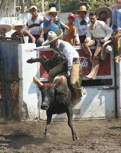 Aguantando los reparos del toro