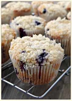 Brown butter blueberry streusel muffins - these remind me of the old version of the Duncan Hines Bakery Style muffins, esp. the streusel