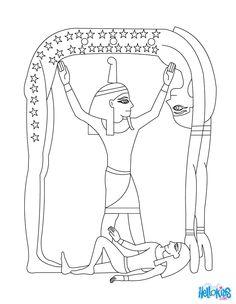 SHU Egyptian goddess & gods Coloring Page
