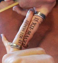 tatouage ecriture chiffres romains http://tatouagefemme.eu/tatouage-ecriture-femme/