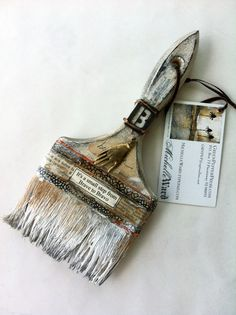 Michelle ward- altered brush - great idea for when you forget to clean a brush!