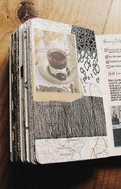 Moleskine (really like the upper right doodle) Artist Journal, Art Journal Pages, Art Journals, Kunstjournal Inspiration, Sketchbook Inspiration, Altered Books, Altered Art, Sketchbook Pages, Sketchbook Ideas