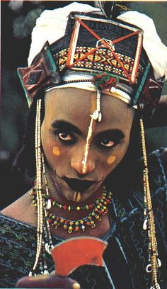 Africa | Wodaabe. Niger. Image appeared in the National Geographic, October 1983 edition (volume 164, No 4)