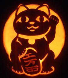 Maneki Neko Pumpkin by johwee on DeviantArt